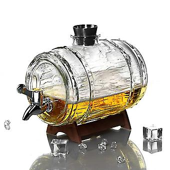 Glass Whiskey Decanter Set Creative Beer Barrel Bar Family Party Decoration