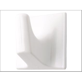 Basics Self Adhesive Hook Square White Large x 10 7599