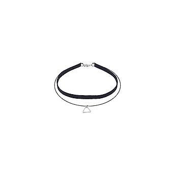 Elegant design velvet choker necklace with triangle charm