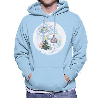 Care Bears Christmas Snow Castle Men's Hooded Sweatshirt