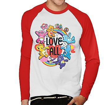 Care Bears Unlock The Magic Love All Men's Baseball Long Sleeved T-Shirt
