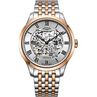 Rotary GB02944-06 Hombres's Greenwich Automático Reloj de pulsera de dos tonos