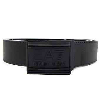EA7 Ea7 Embossed Logo Adjustable Belt Black