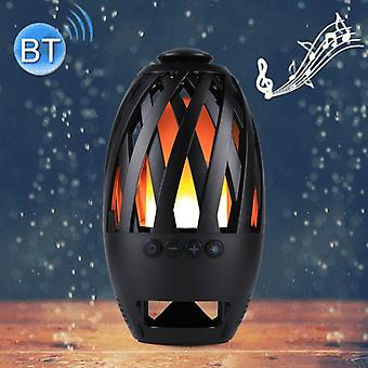BTS-596 3W Bluetooth V4.2 Micro USB Charging Portable Smart LED Flame Atmosphere Bluetooth Speaker Support Micro SD (TF) Card, Effective Bluetooth Dis