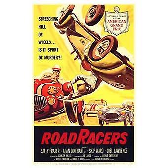 Дорога гонщики старинные рекламы фильма плакат (11 x 17)