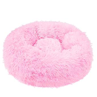 Hondenmand rond - 80 cm - pluche roze