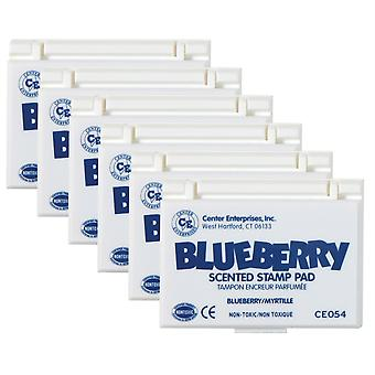 Scented Stamp Pad, Blueberry/Blue, Pack Of 6