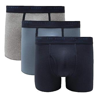 Ted Baker 3 Pack Boxer Briefs - Navy / Blue / Heather Grey