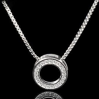 Fashion Elegant Rhinestone Necklaces & Round Pendants Necklace