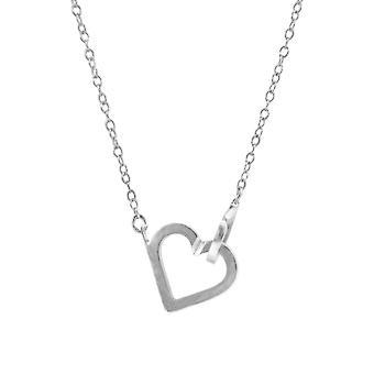 ANCHOR & CREW kleines Herz Link Paradies Silber Halskette Anhänger
