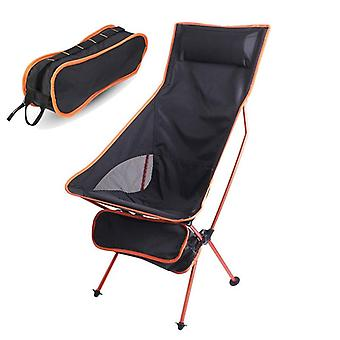 Outdoor Camping Chair Oxford Cloth Portable Folding Lengthen Camping Seat
