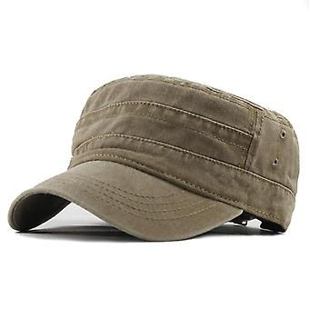 Classic Vintage Flat Top Men's Adjustable Fitted Thicker Cap