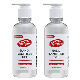 2 Pack Lifebuoy Total10 Hand Sanitiser Gel Kills 99.9% of Bacteria, 250ml