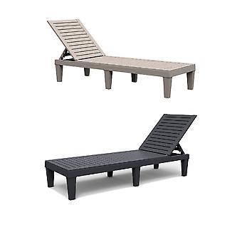 Harz Liege Sonnenliege Tag Bett Stuhl Outdoor Garten Patio Möbel