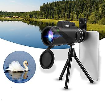 MOGE 40x60 Monocular Ultra HD Optical Lens Low Light Night Vision Telescope + Phone Clip + Tripod