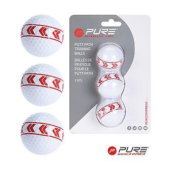 Pure2Improve Putt Path Align Balles de golf d'entraînement