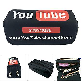 يوتيوب أطفال طبقة مزدوجة قلم رصاص حالة مع قدرة كبيرة
