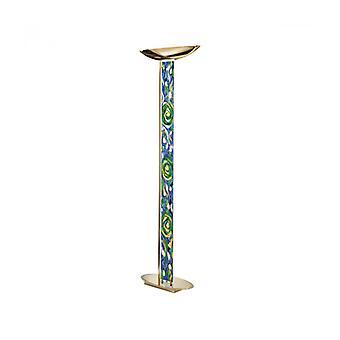 Lámpara De Pie De Diseño Delphi Kulta 24 Quilates 4 Bombillas Aqua Blue