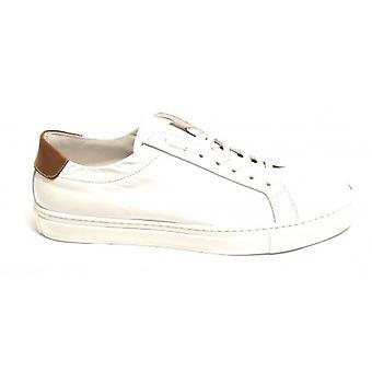 Men's Shoes Sneaker Yox By Nicola Barbato In Calfskin Col. White Us18nb12