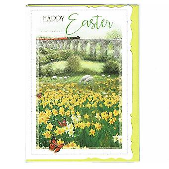 Out Of The Blue Happy Easter Meadow Greeting Card