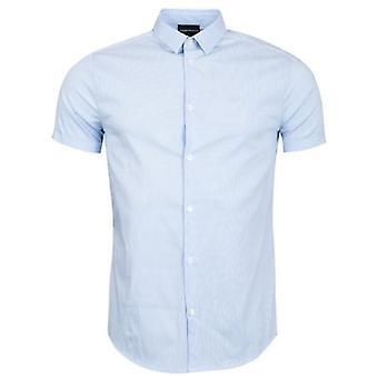 Emporio Armani Slim Fit Baumwolle Poplin gestreiftshirt