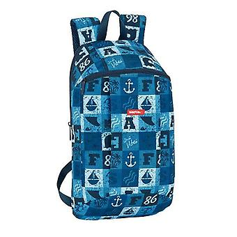 Child bag safta blue squares