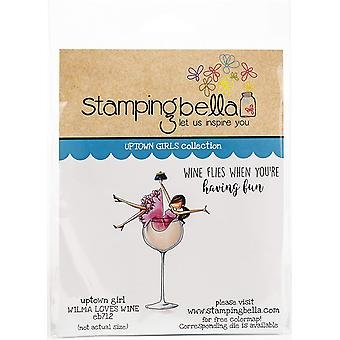 Stamping Bella Cling Stamps - Uptown Girl Wilma Loves Wine