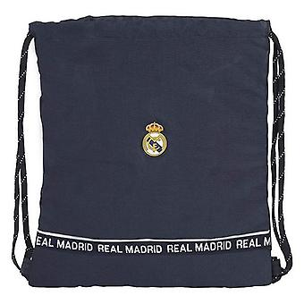 Backpack with strings real madrid c.f. navy blue motif on front