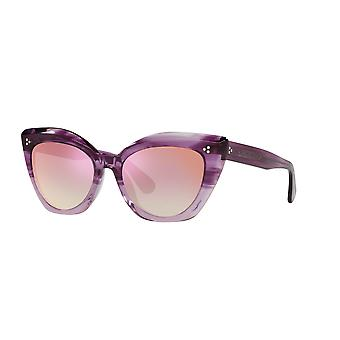 Oliver Peoples Laiya OV5452SU 1691H9 Jacaranda Gradient/Soft Pink Gradient Mirror Sunglasses