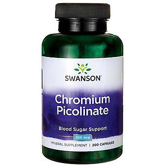 Swanson Chromium Picolinate 200 mcg 200 Kapseln