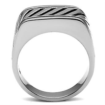 Hommes Acier inoxydable No Stone Rings Tk380