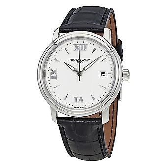 Frederique Constant White Dial Black Leather Men's Watch FC-240HW3P6