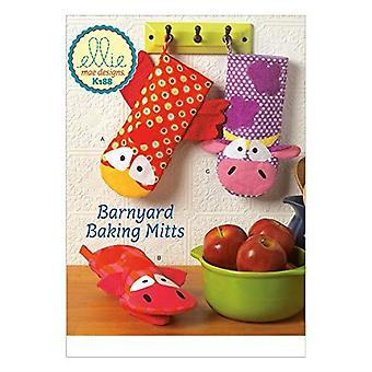 Kwik Sew Ellie Mae Sewing Pattern K188 0188 K657 Oven Mitts Chicken Cow Barnyard