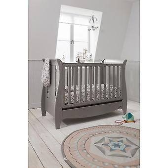 Tutti Bambini Roma Space Saver Sleigh Cot Bed with Drawer - Truffle Grey