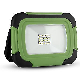 V-tac VT-11-R LED lámpara de construcción / lámpara de trabajo de la batería - 10W - 6400K - verde