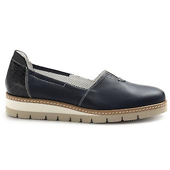Slip On Donna Philisophy By Alfredo Giantin In Pelle Blu