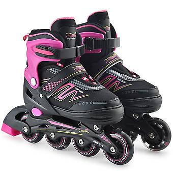 Inline Skates Adjustable With Illuminating Wheels,,, Speed Patines, Free