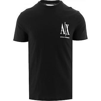 Armani Exchange Musta Logo T-paita