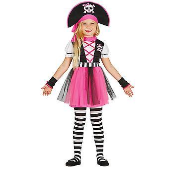 Déguisement pirate rose fille