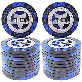 FengChun 20 Stck Pokerchips Casino Club Pokerchips Bulk - Whlen Sie die Stckelung