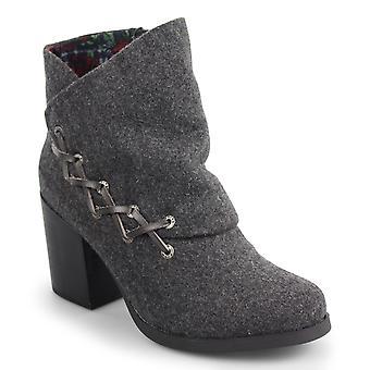 Blowfish Womens Doranne Fabric Round Toe Ankle Fashion Boots