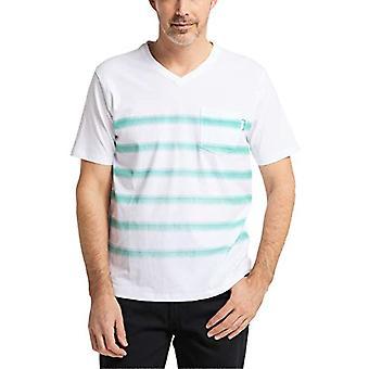 Pioneer T-Shirt V-Neck mit Streifen, Jade Cream, XXXL Men's