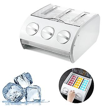 Multi Functional Refrigerator Storage Drawer Ice Cube Making Mould Box Popsicle Molds(White)
