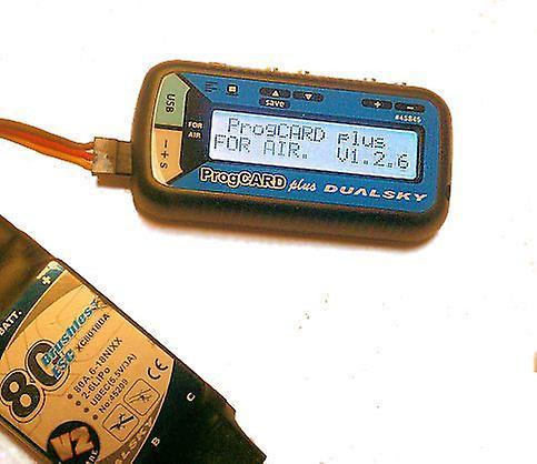 DualSky ProgCARD pluss, programmering kort og USB