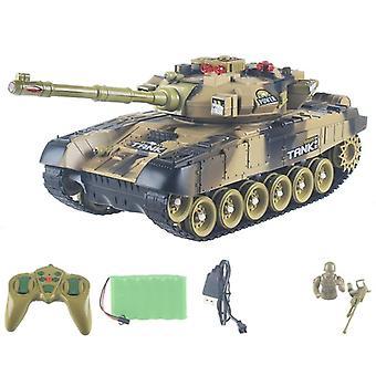Mini Rc Tank med Usb-oplader, trådløst kabel, fjernbetjening, pansret