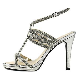 Caparros Womens Heather Open Toe Bridal Slingback Sandals