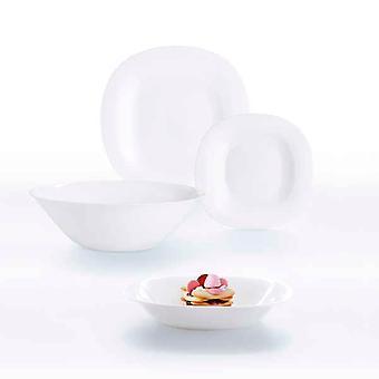 Tableware Luminarc Carine Blanco White Glass (19 pcs)