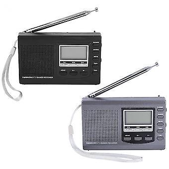 HRD-310 hordozható Mini FM MW SW digitális ébresztőóra FM rádióvevő