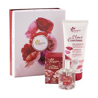 Eau de coursiana set: perfume water 50ml + shower gel 200ml 1 unit