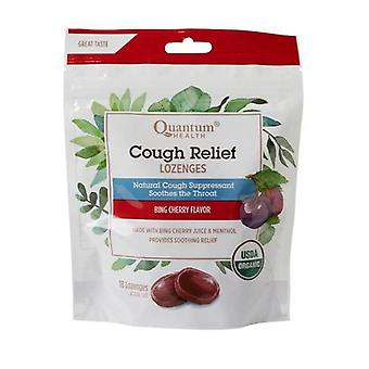 Quantum Health Cough Relief Organic Bagged Lozenges, Bing Cherry 18 Count